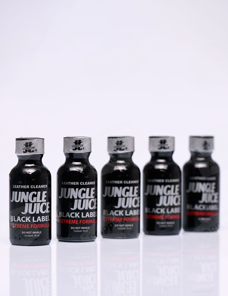 5 bottles of Jungle Juice Black Label Lockerroom