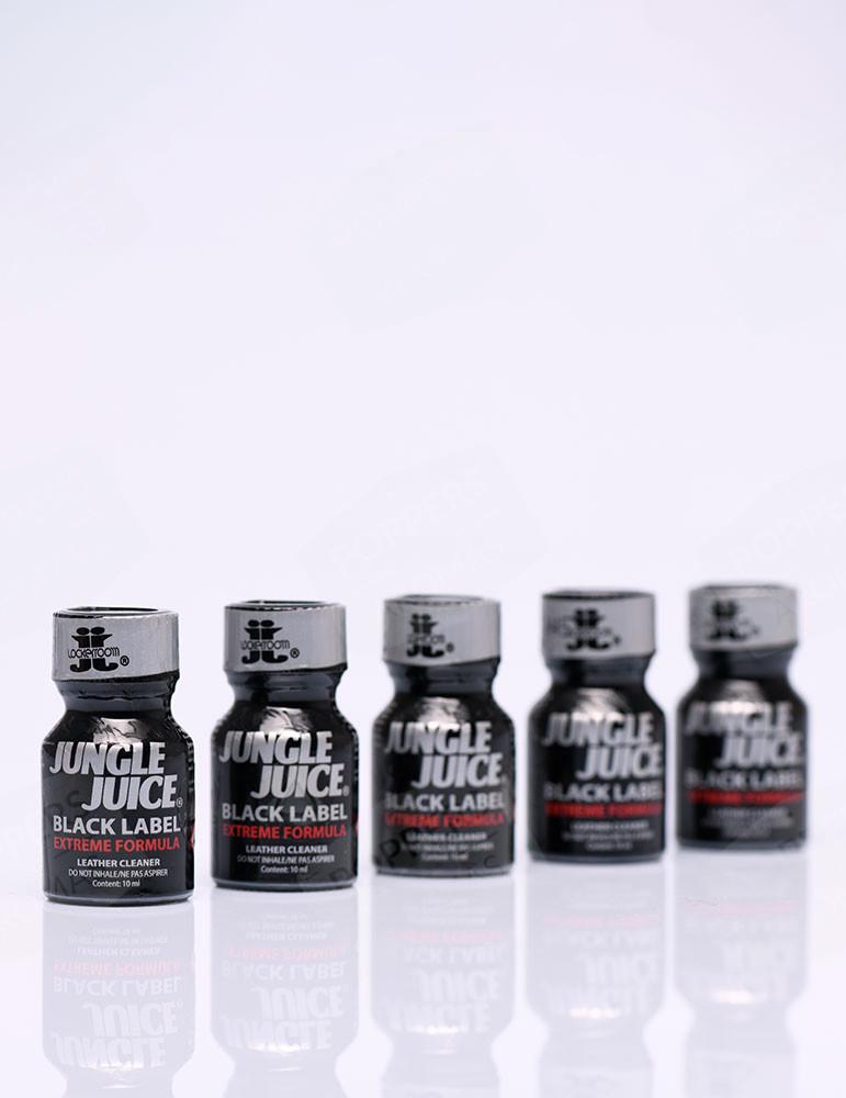 10ml bottles of Jungle Juice Black Label Lockerroom