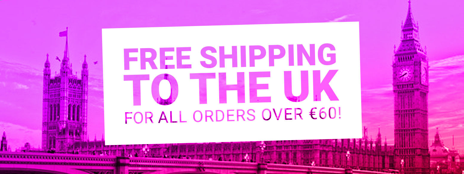Get free shipping to the UK